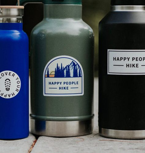 stickers on waterbottles