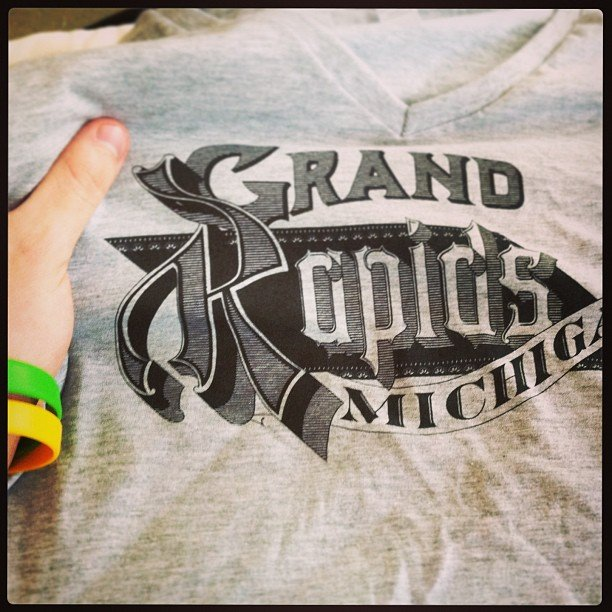 first print of my grand rapids t-shirt