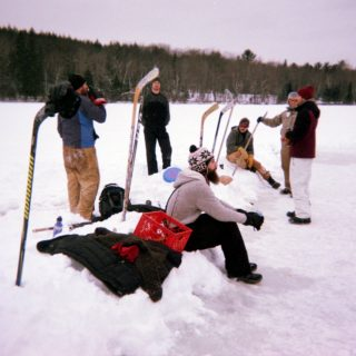 hockey at harlow lake