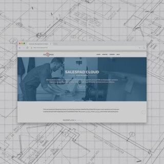 salespad cloud landing page on chrome browser