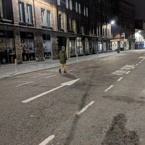 empty street in belfast