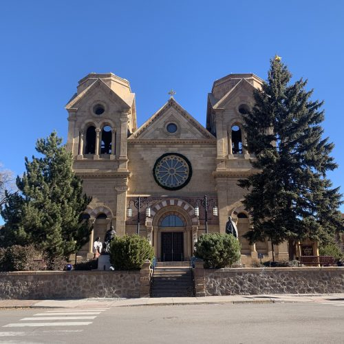 downtown church in santa fe, nm