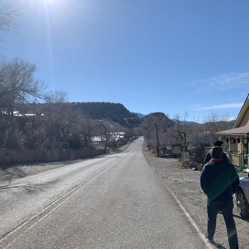 main road in madrid, new mexico