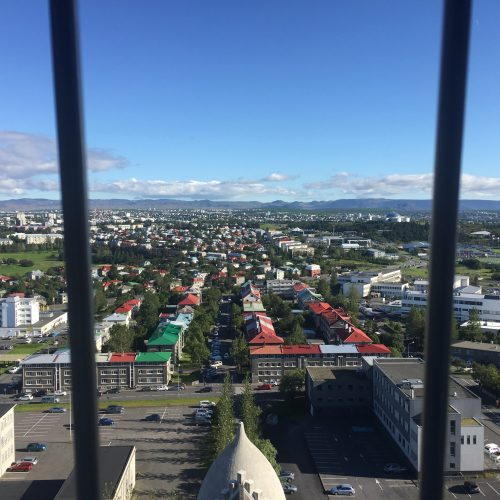 birds eye view of Reykjavik