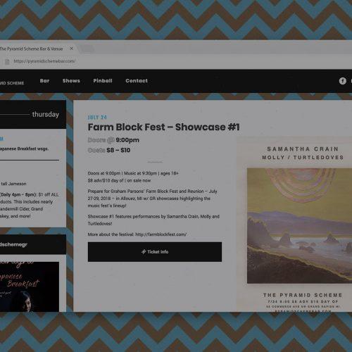 pyramid scheme website on desktop