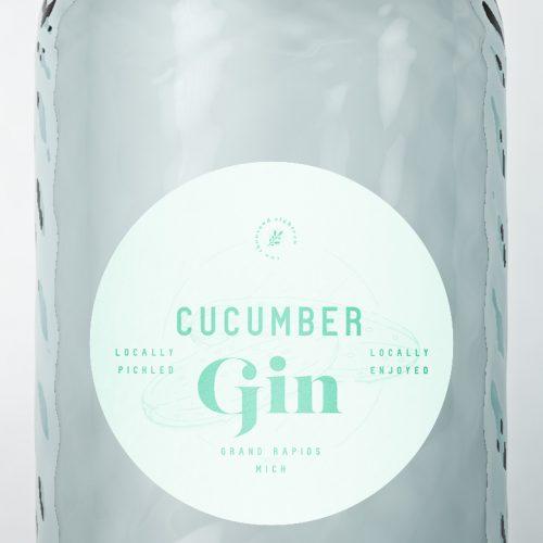 cucumber gin logo mockup