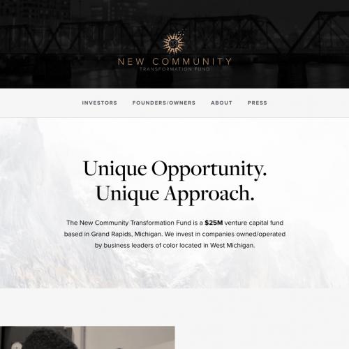 newcommunityfund.com screenshot
