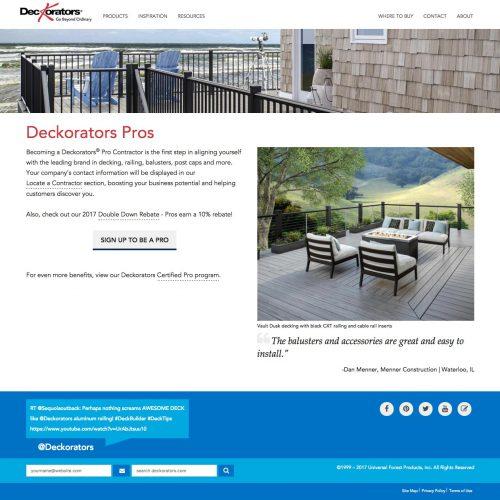 deckorators pro website
