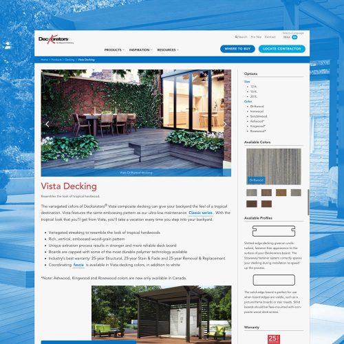 deckorators website