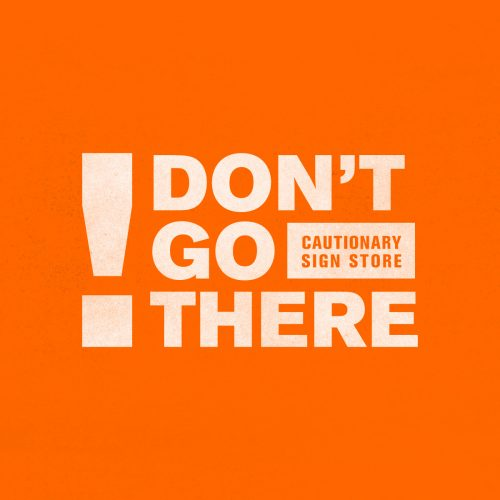 made up logo for don't go there