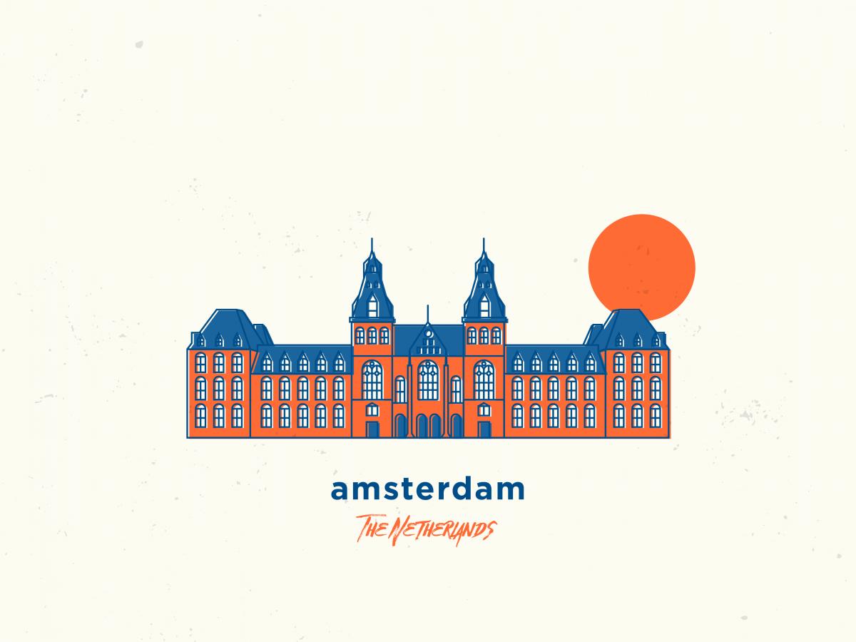 my illustration of amsterdam, the netherlands