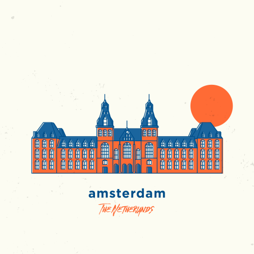my illustration of amsterdam, the netherlands