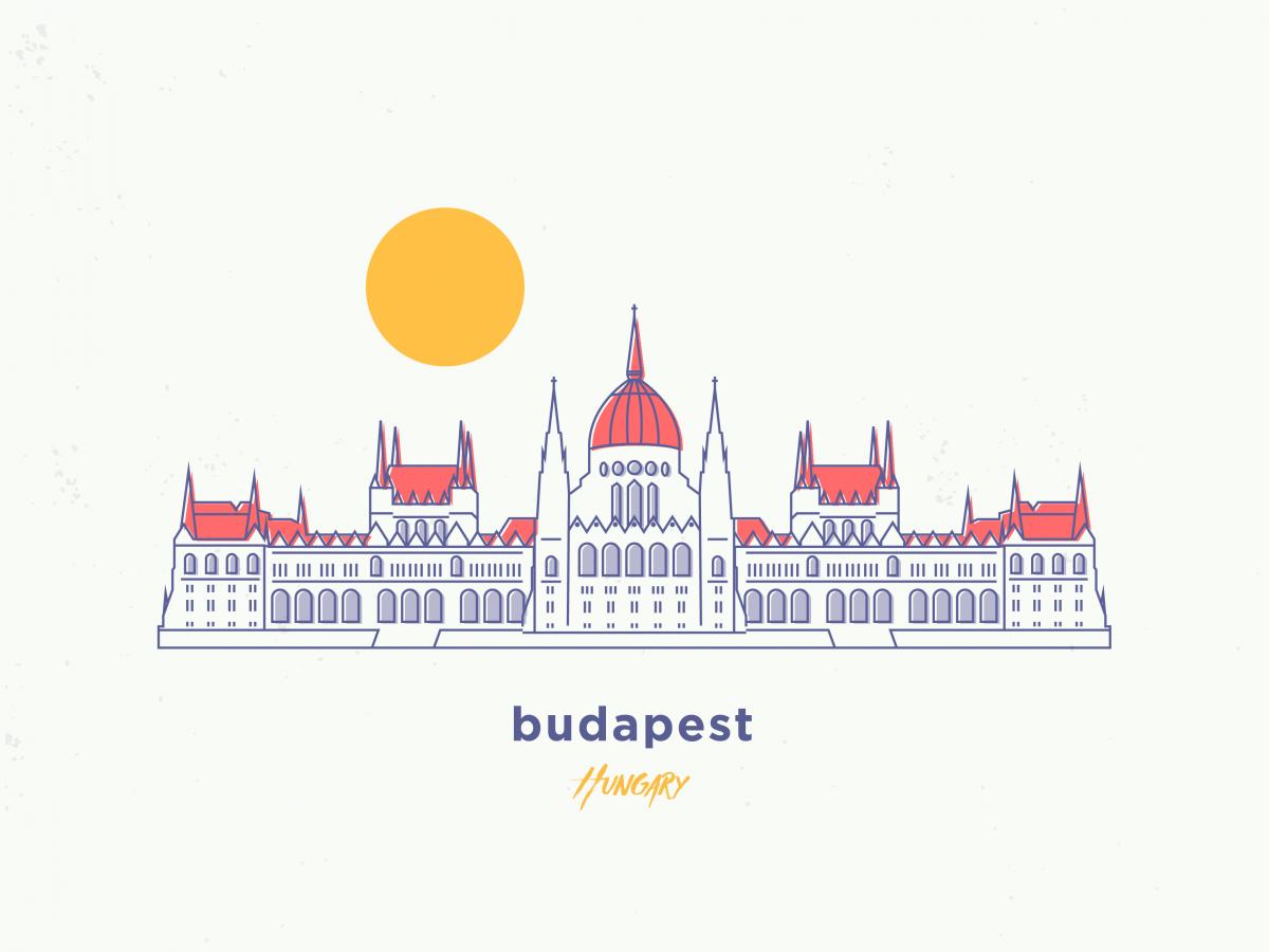 my illustration of budapest, hungary