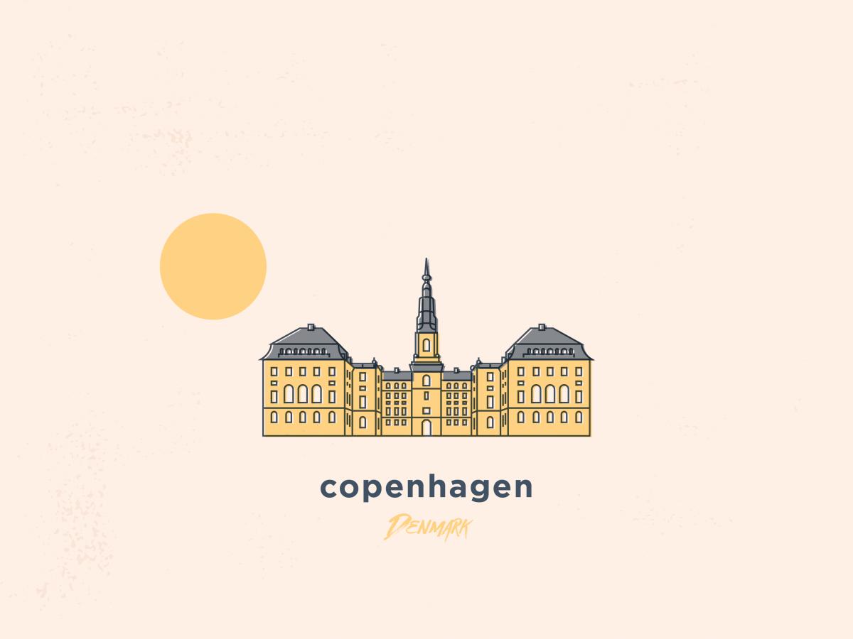 my illustration of copenhagen, denmark