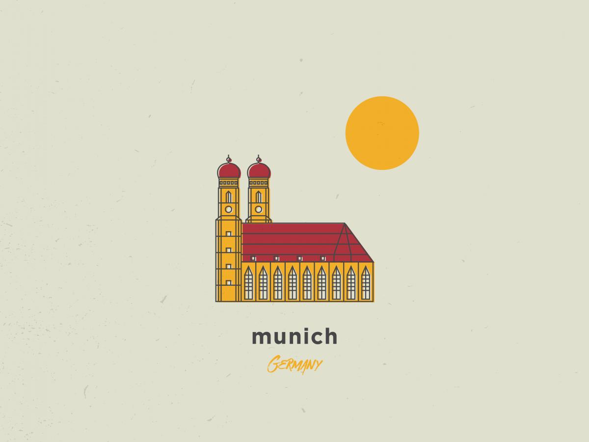 my illustration of munich, germany