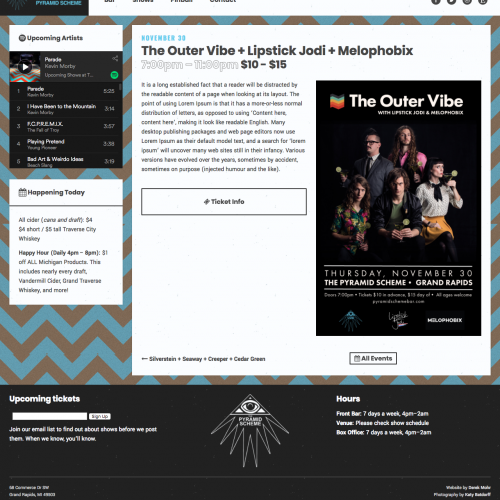 the outer vibe event page