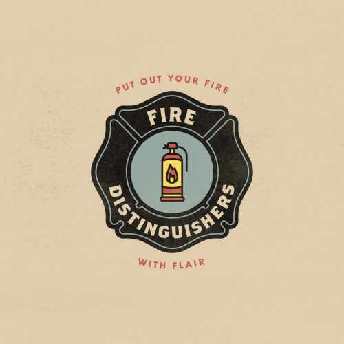 made up logo for fire distinguishers