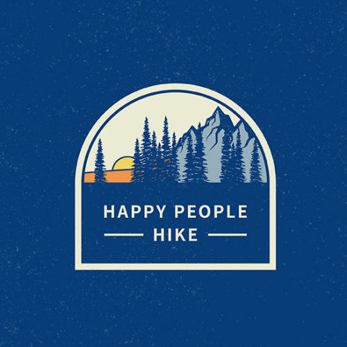 happy people hike logo