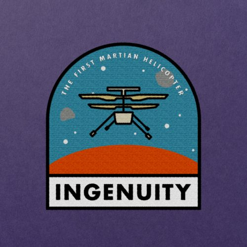 Patch concept for the Ingenuity helicopter, deployed to Mars in February 2021