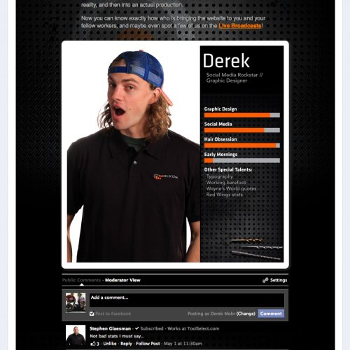 meet the team web page