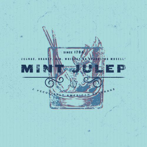 mint julep illustration logo