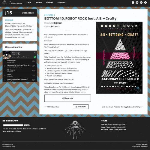 bottom 40 w/crafty event page