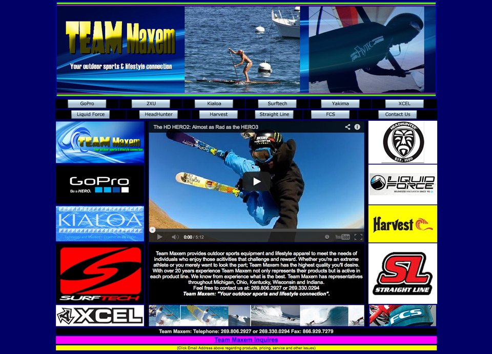 old website for team maxem