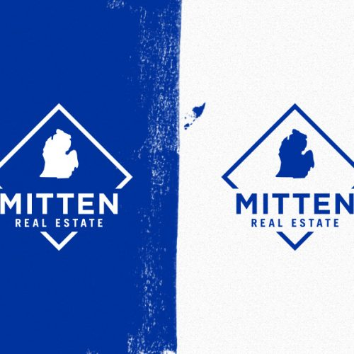 logo in blue and in white