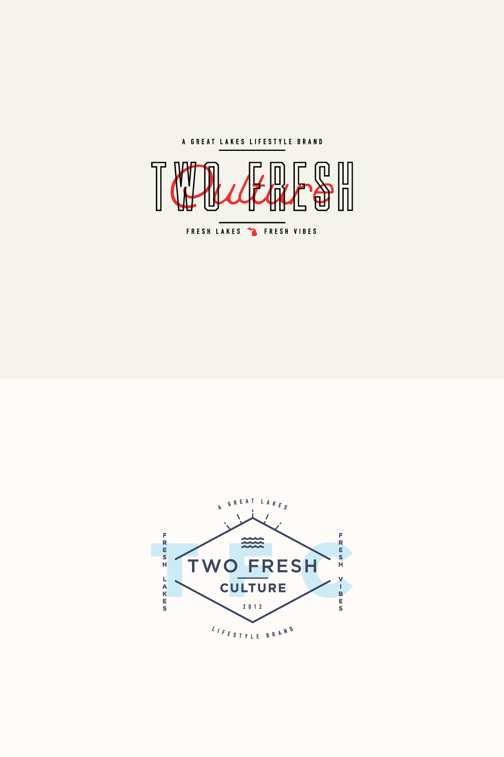 two logos for Two Fresh Culture