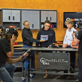 toolselect team on set, right before action