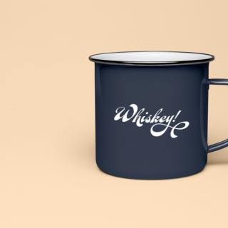 whiskey sticker on cup