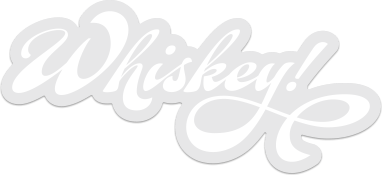 whiskey stickers, white
